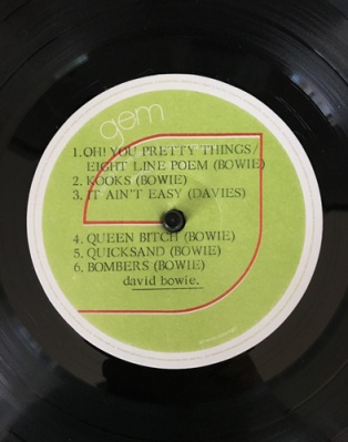 david bowie bowpromo label
